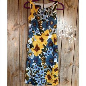 🌹Jones New York Sleeveless Floral Dress Size 2 🌹